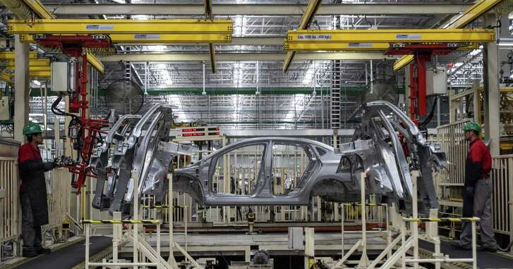 Mexico has seen major growth in auto manufacturing since NAFTA went into effect in 1994. This auto plant is Aguascalientes.