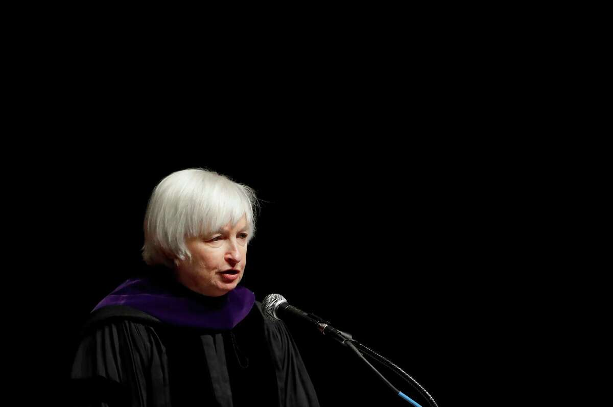 Federal Reserve Board Chair Janet Yellen speaks at the University of Baltimore's fall commencement in Baltimore, Monday, Dec. 19, 2016. (AP Photo/Patrick Semansky)