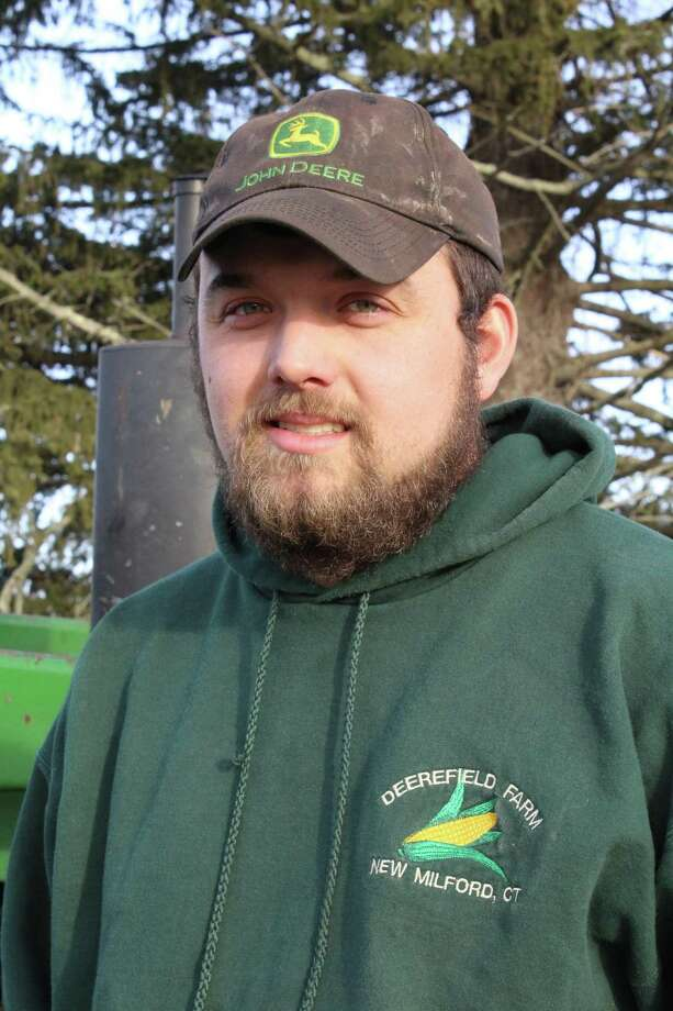 Dan Weed, 23, changed his farming business after a fire ripped through his barn in October 2015. Photo: Barry Lytton / Hearst Connecticut Media