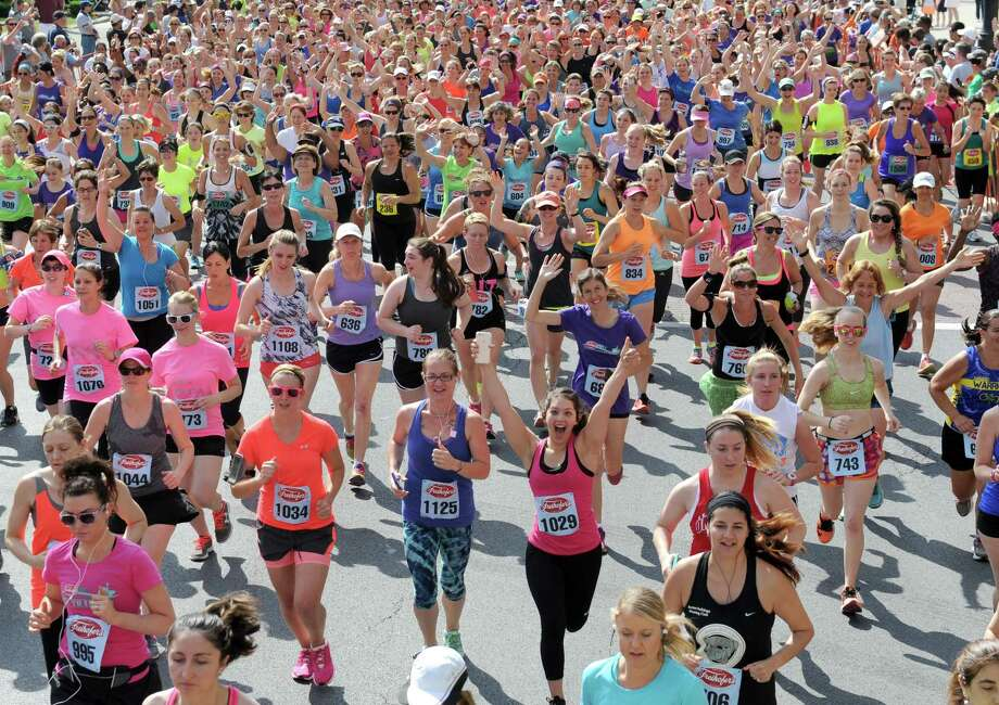 Runners break from the start during the 38th Freihofer's Run for Women on Saturday June 4, 2016 in Albany, N.Y. (Michael P. Farrell/Times Union) Photo: Michael P. Farrell / 40036850A
