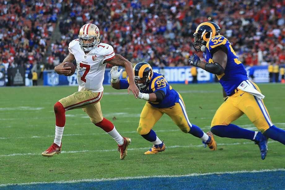 The 49ers' win vs. the Rams in Week 16 may have cost them a chance at the number one overall pick in April's draft Photo: Sean M. Haffey, Getty Images