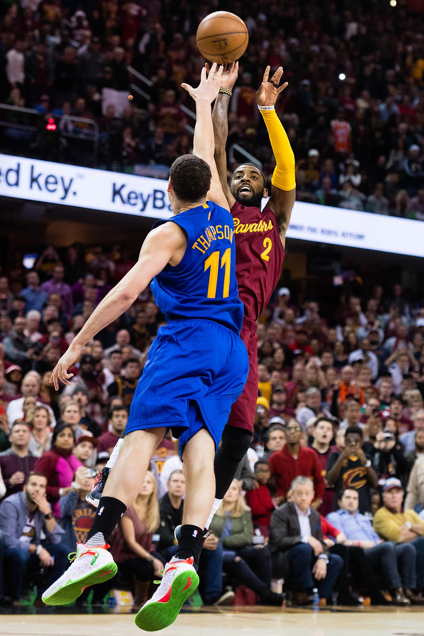 more photos 8e187 a878c Warriors undone by Kyrie Irving jumper on Christmas - SFGate