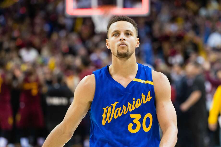 762217121b38 Stephen Curry  30 of the Golden State Warriors reacts as he walks off the  court