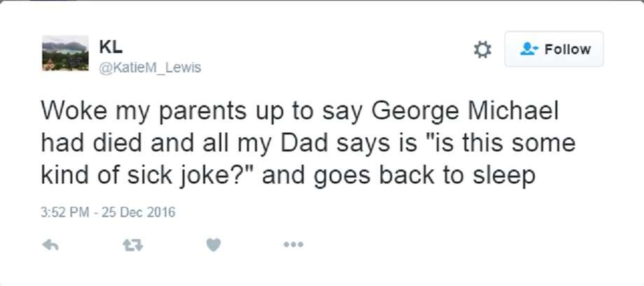 Moments after news broke that pop music icon George Michael had died on Christmas Day, fans and others took to Twitter with reactions to his passing. Photo: Twitter Screen Grab