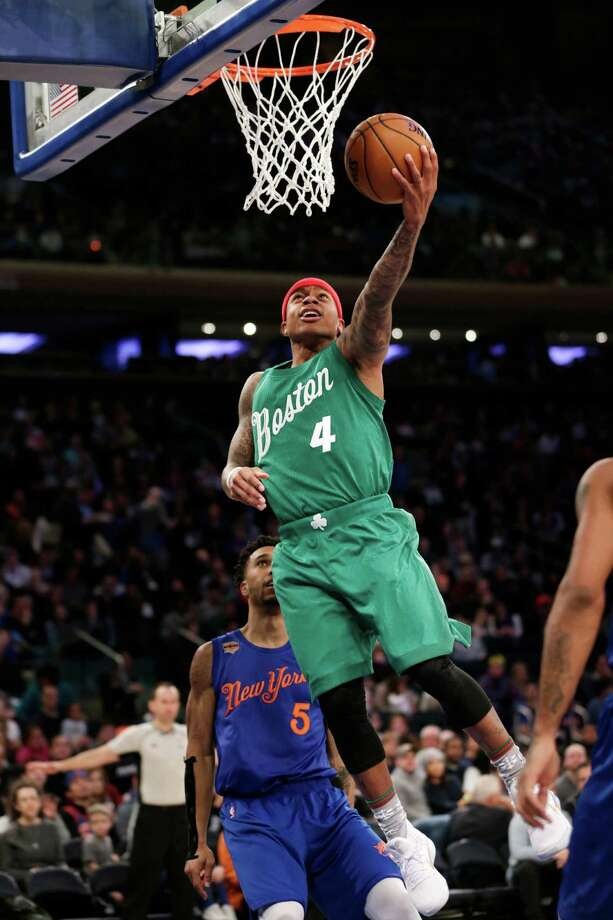 Boston Celtics' Isaiah Thomas drives to the basket during the second half of the NBA basketball game against the New York Knicks, Sunday, Dec. 25, 2016, in New York. (AP Photo/Seth Wenig) ORG XMIT: NYSW107 Photo: Seth Wenig / Copyright 2016 The Associated Press. All rights reserved.