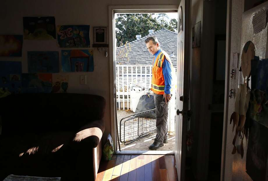 Oakland City Councilman Noel Gallo visits an illegal two-bedroom in-law unit in the Fruitvale district rented by a family of three. The recent deadly Ghost Ship fire has put a spotlight on substandard housing in the city. Photo: Leah Millis, The Chronicle