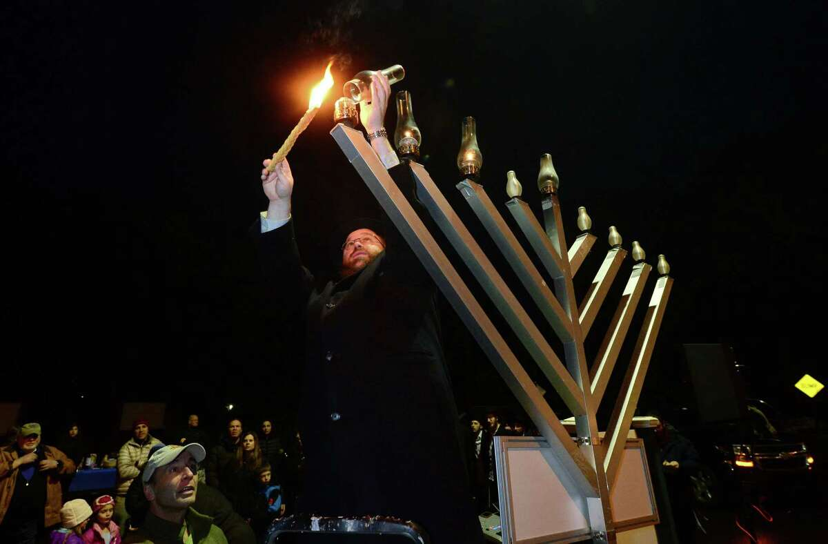 Weston Menorah Lighting Monday, December 23, 2019 at 5:30 p.m. The Schneerson Center hosts a Menorah Lighting and display at the Weston Shopping Center, 190 Weston Road, Weston, CT. Find out more.