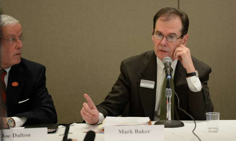 Mark Baker, director of the Saratoga Springs City Center, speaks during an open meeting of the City Center Board Wednesday morning, Jan 9, 2013, in Saratoga Springs, N.Y.  (Skip Dickstein/Times Union) Photo: SKIP DICKSTEIN / 00020710A