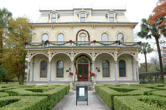 The Steves Homestead in the King William Historic District decorated for the holidays in 2016.
