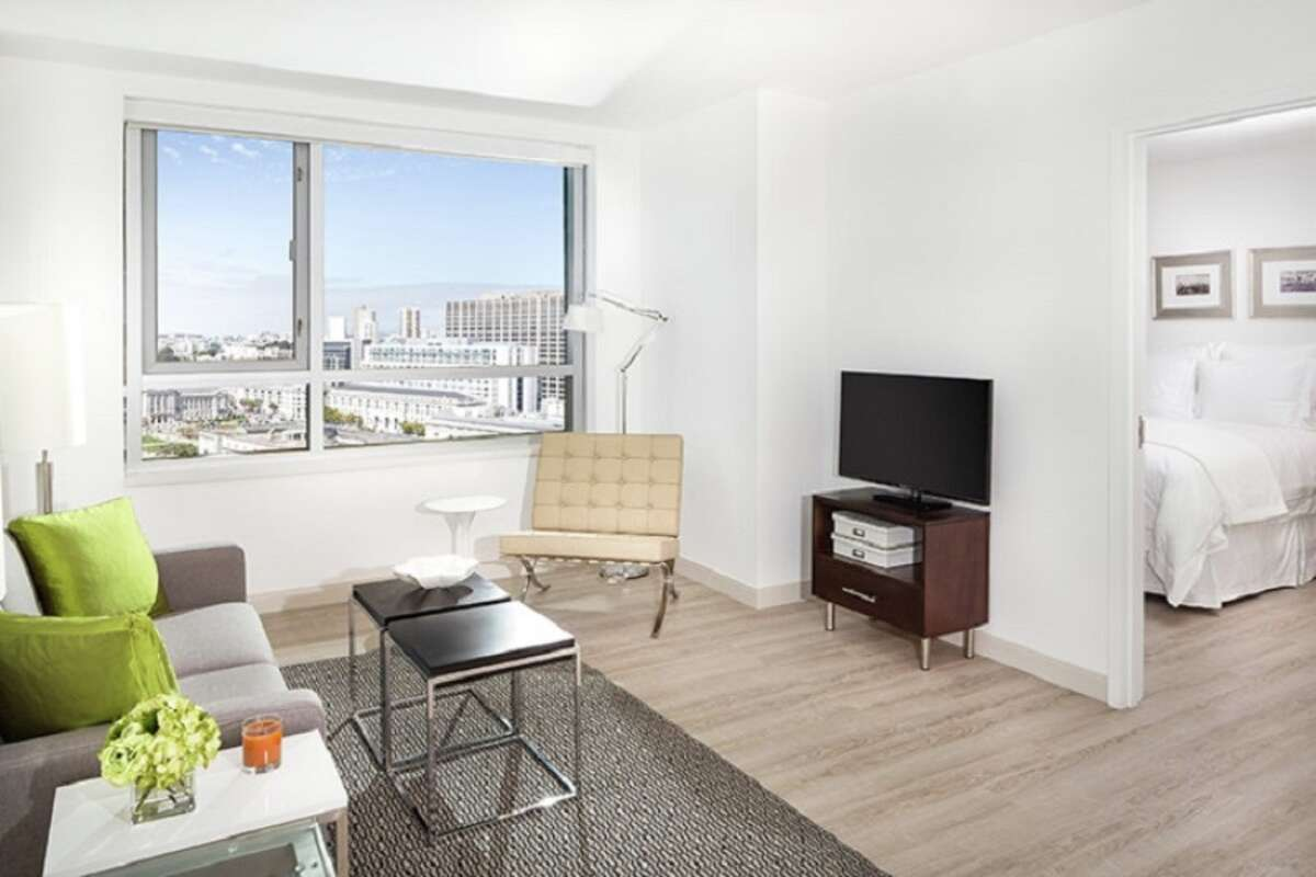 At 33 8th St. at Trinity Place, you can rent this 565-square-foot one-bedroom for $3,310.