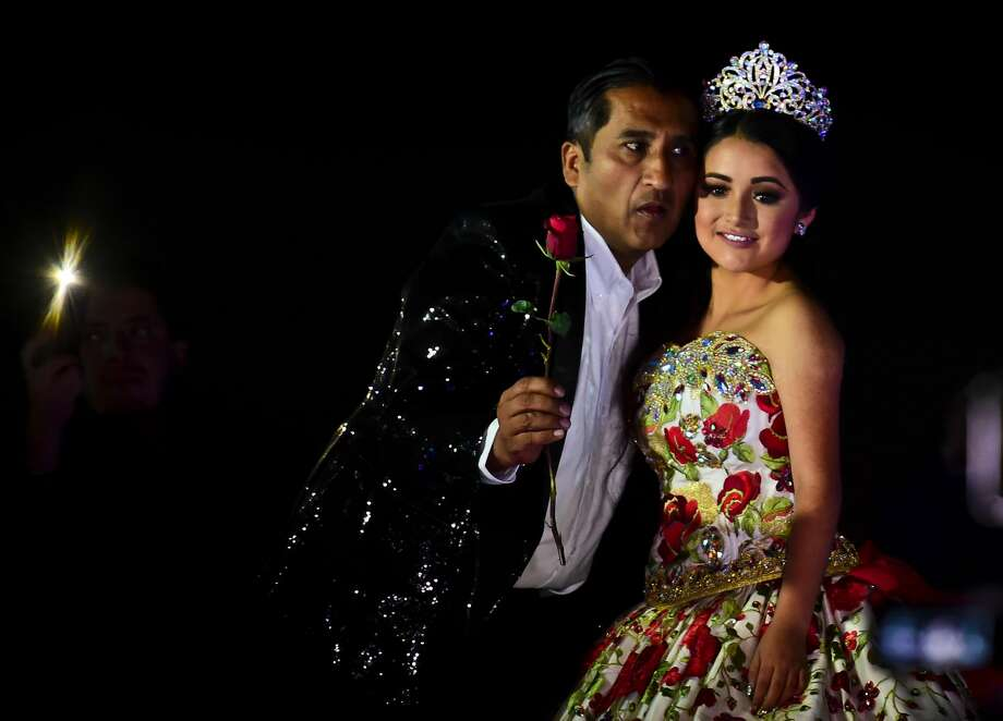 c99b64be03d Rubi Ibarra poses during her 15th birthday celebrations in Villa Guadalupe