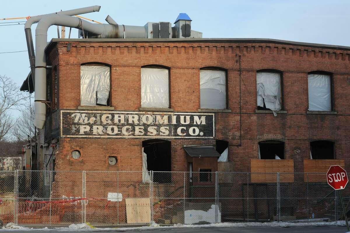 Demolition of the old Chromium Process building progresses on Dec. 19.