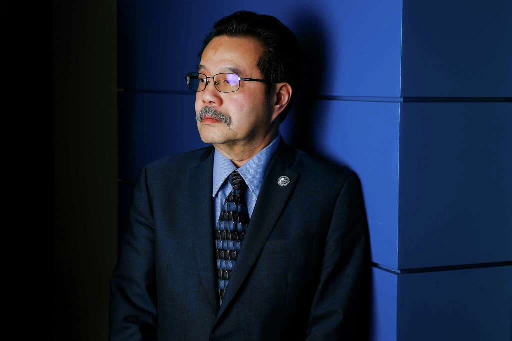 Schlumberger Chief Security Officer Mario Chiock stands for a portrait on 20 December 2016 in Houston. Credit: Michael Ciaglo/Houston Chronicle.