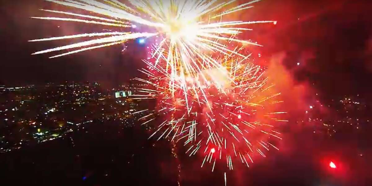 YouTube user AlteredStates posted a video in 2014 of a drone flying through a fireworks display.