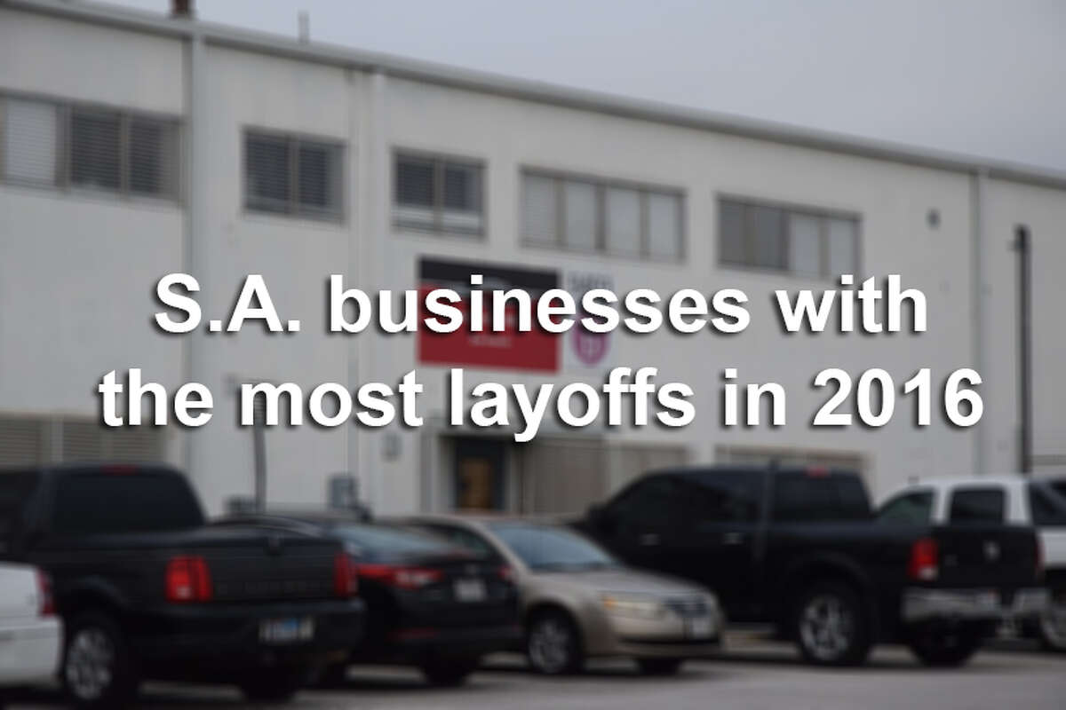Businesses in the San Antonio area laid off more than 1,000 people so far this year, according to state records.Click through the slideshow to see which San Antonio-area companies laid off their employees in 2016.