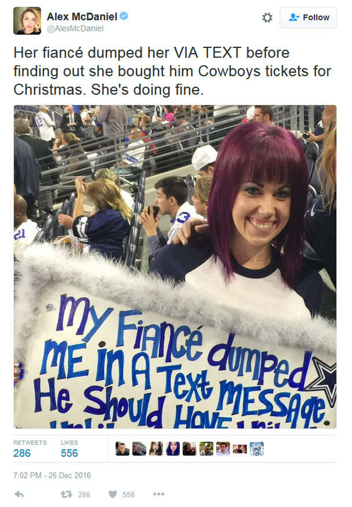 PHOTOS: NFL Week 16 memes collected A Dallas Cowboys fan got the last laugh after a holiday breakup. Click through to see the memes that got us through Week 16 of the NFL season...
