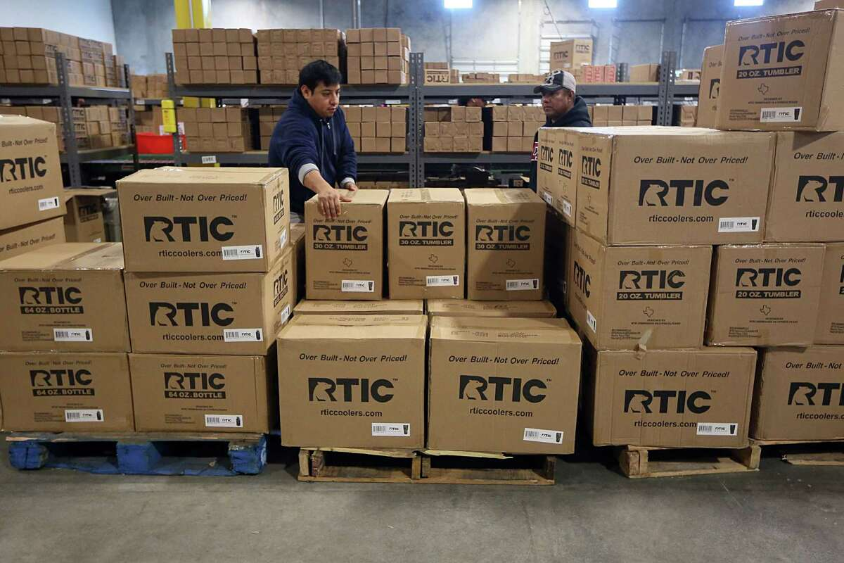 Merchandise being prepared for shipment at RTIC Dec. 9, 2016, in Houston. ( James Nielsen / Houston Chronicle )