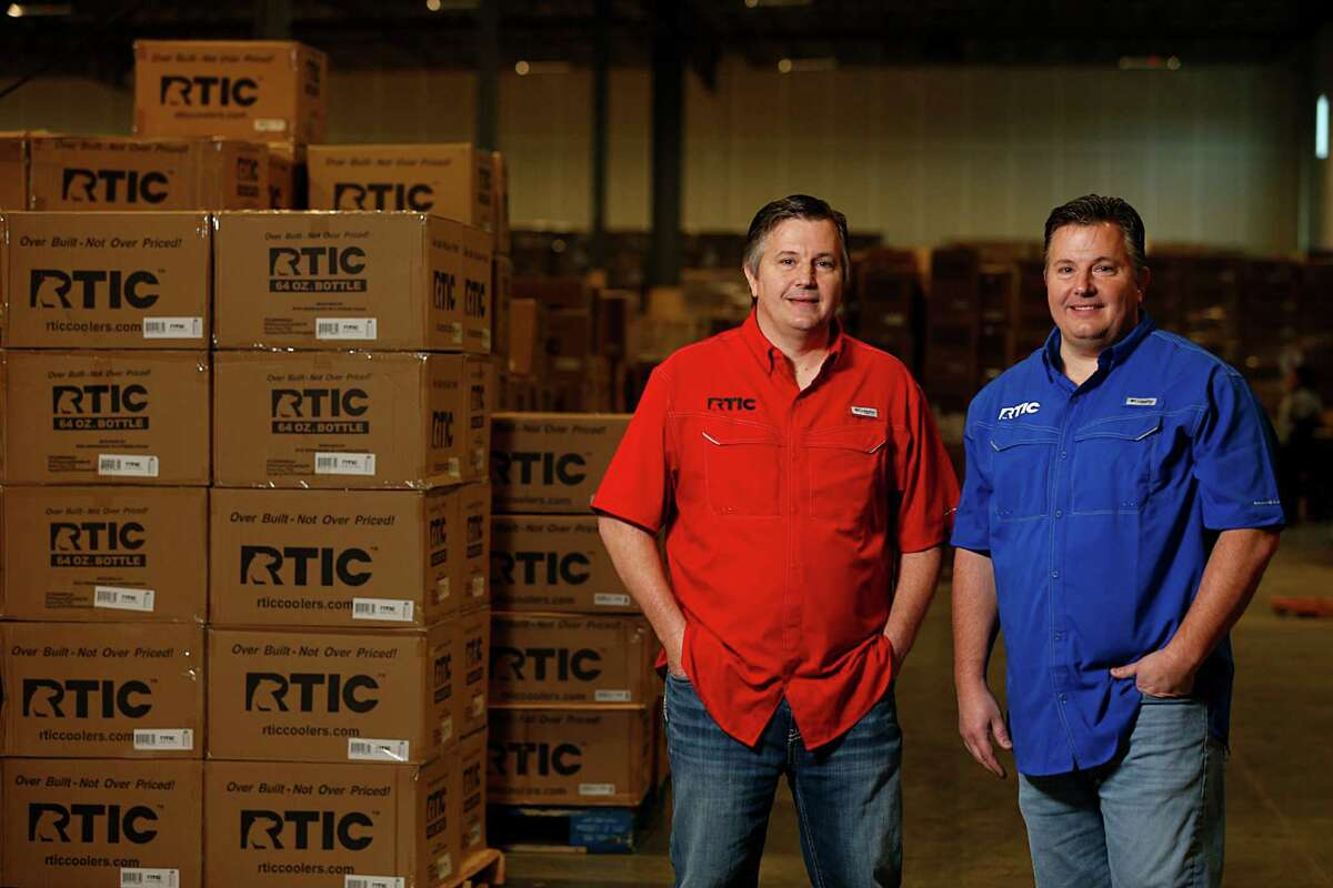 RTIC founders John Jacobsen left, and his brother Jim Jacobsen right, pose for a portrait Dec. 9, 2016, in Houston. ( James Nielsen / Houston Chronicle )