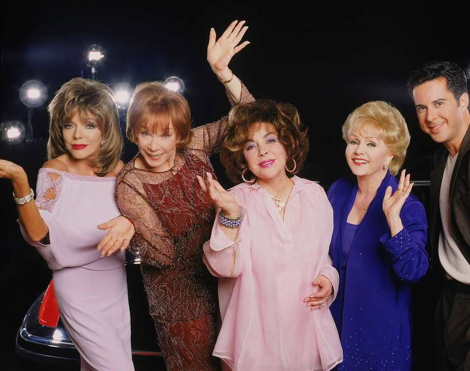 """Shirley MacLaine, Debbie Reynolds, Joan Collins and Elizabeth Taylor star in """"These Old Broads,""""a two-hour comedy written by Carrie Fisher ('Postcards From the Edge') and Elaine Pope ('Seinfeld'). Photo: TIMOTHY WHITE, 2000 ABC, INC."""