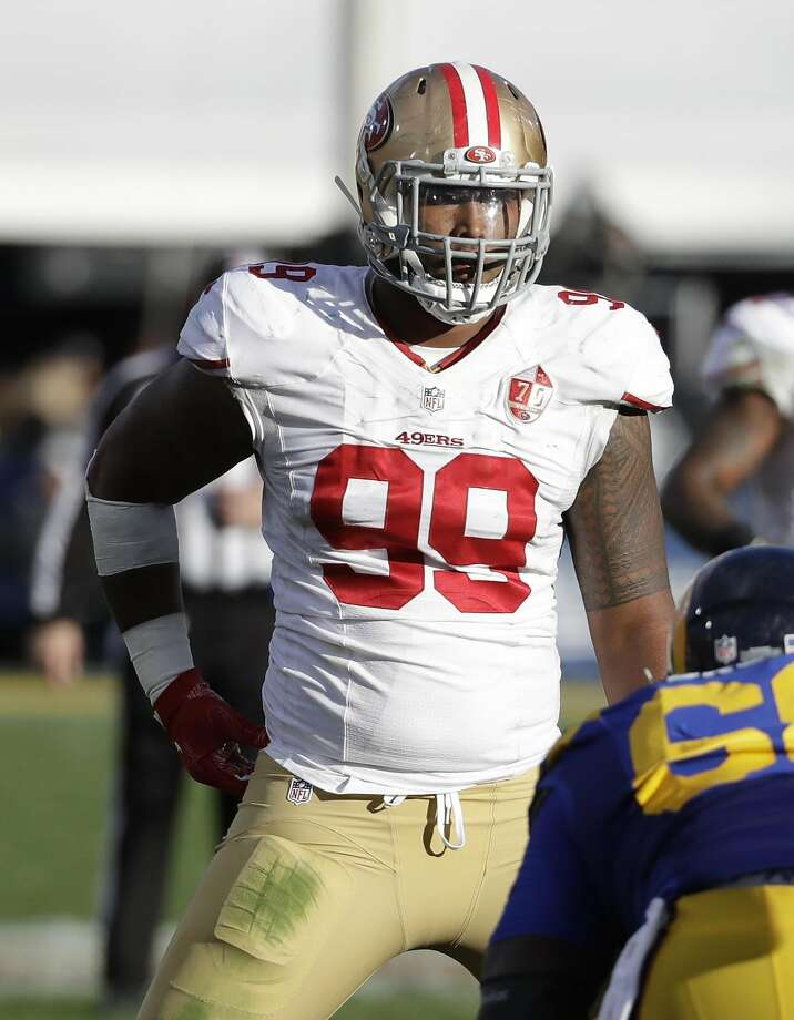 San Francisco 49ers defensive end DeForest Buckner (99) during the first half of an NFL football game against the Los Angeles Rams, Saturday, Dec. 24, 2016, in Los Angeles. (AP Photo/Rick Scuteri) Photo: Rick Scuteri, Associated Press