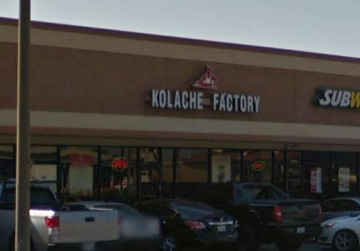 Kolache Factory 14095 Northwest Fwy., Ste. B Houston, TX 77040 Demerits: 37 Inspection Highlights: Poisonous/Toxic material stored above food, equipment, utensils, linens, single-service articles, single-use articles by locating poisonous/toxic materials as to not permit contamination. Observed tops to drinking cups stored with hazardous chemicals. Separate chemicals from food and single service items.