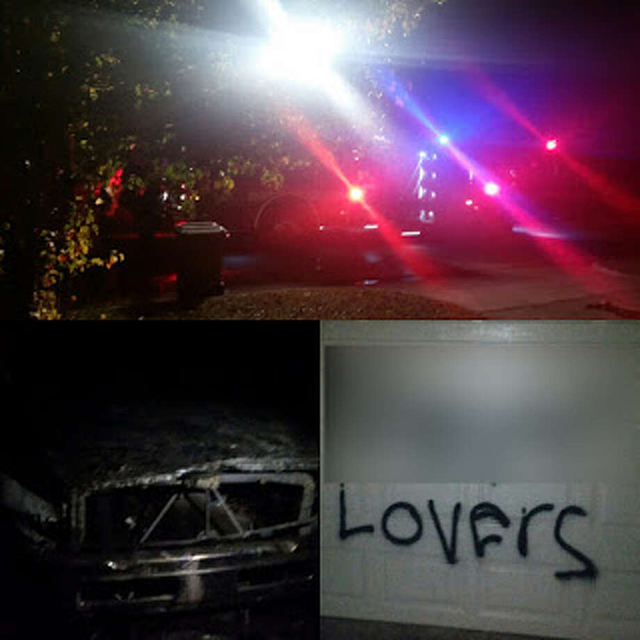 Texas man confesses to scrawling 'N----- lover' on his home