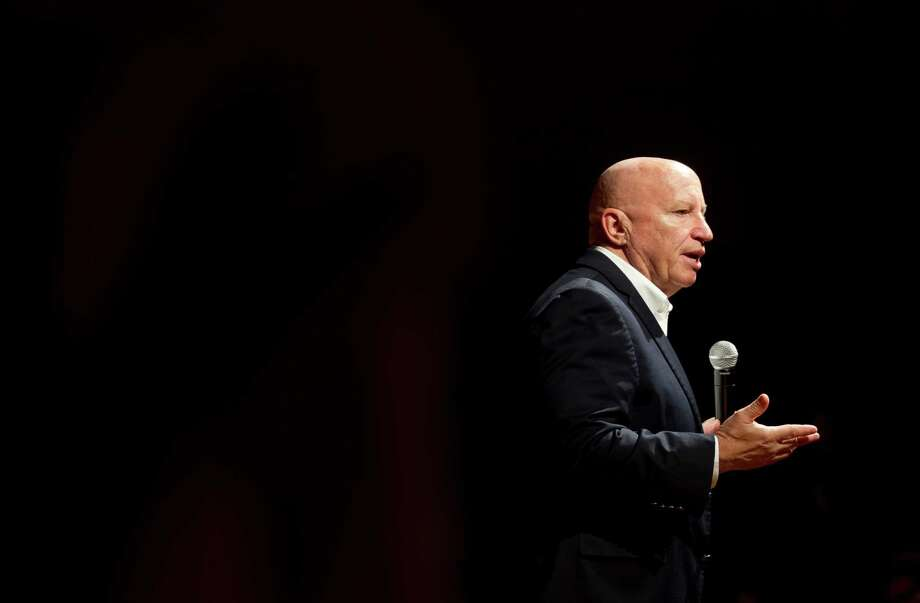 U.S. Rep. Kevin Brady, R-The Woodlands, addresses tax reform during a town hall meeting with students at Caney Creek High School Nov. 3 in Conroe. Brady answered students' questions and spoke about the election, health care and tax reform. Photo: Jason Fochtman, Staff Photographer / Houston Chronicle