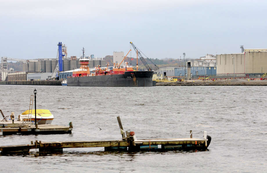 A tanker barge is docked at the Port of Albany Thursday, Oct. 25, 2012 in Colonie, N.Y. (Lori Van Buren / Times Union) Photo: Lori Van Buren / 00019674A