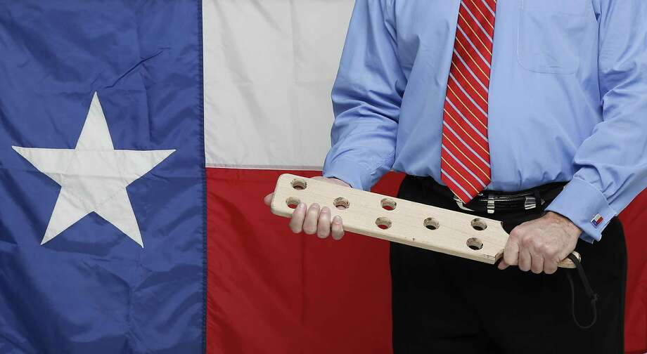 A photo illustration for a story on corporal punishment in Texas schools Friday, Nov. 21, 2014, in Houston.  ( James Nielsen / Houston Chronicle ) Photo: James Nielsen, Staff / Houston Chronicle / © 2014  Houston Chronicle