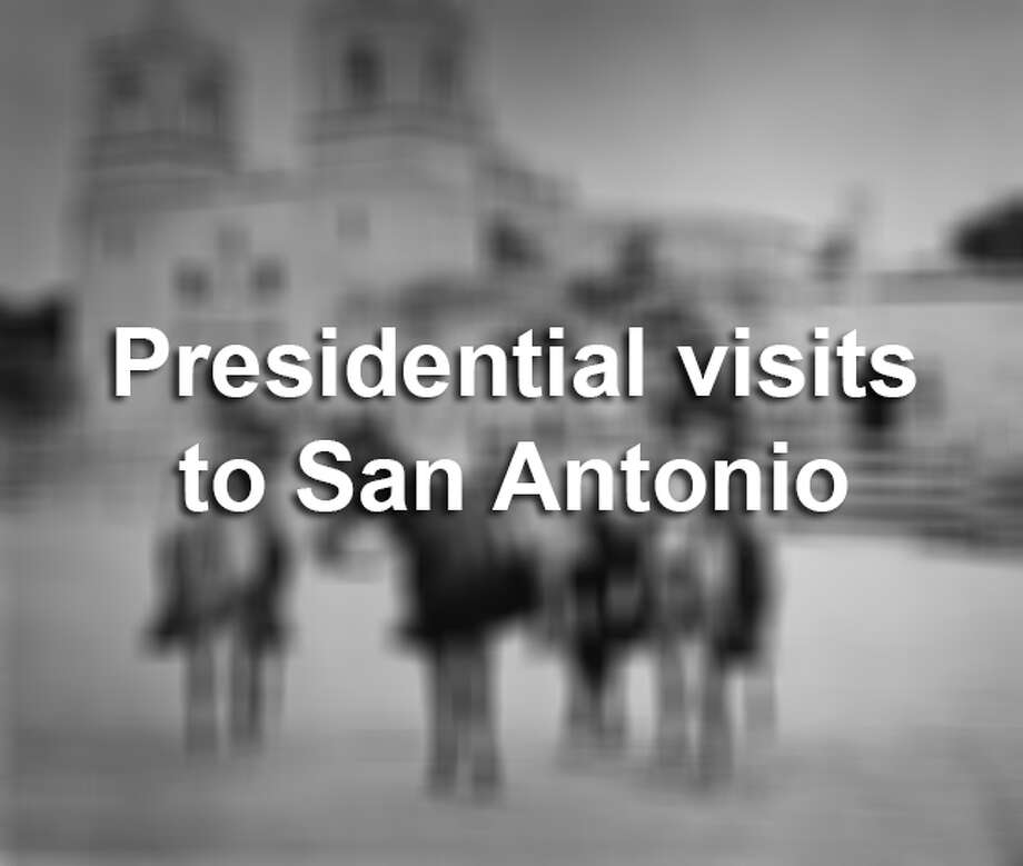 Here are photos of presidents visiting the Alamo City — before, during and after their time in the White House. Photo: PhotoQuest/Getty Images