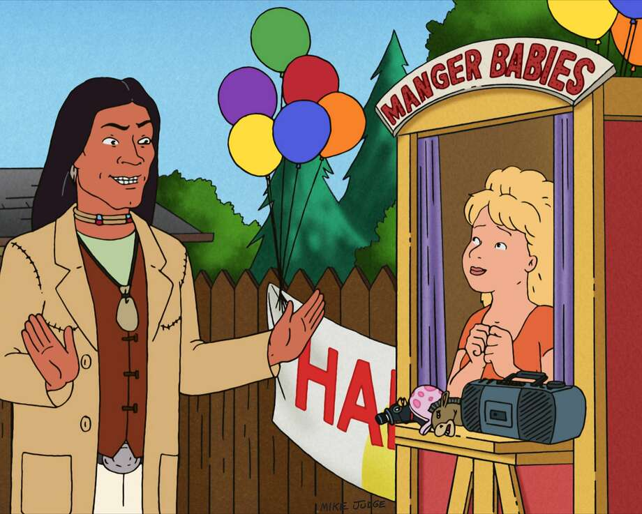 """KING OF THE HILL: While adjusting to her role as a new mom, Luanne becomes a children's performer, and with the help of John Redcorn, creates a franchise around her Manger Baby puppets in the all-new """"Manger Baby Einstein"""" episode of KING OF THE HILL airing Sunday, May 10 (7:30-8:00 PM ET/PT) on FOX. KING OF THE HILL 2009 ™ and © TTCFFC ALL RIGHTS RESERVED. Photo: FOX"""