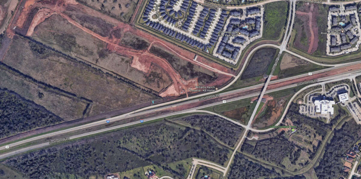 A screenshot of a Google Maps image of Williams Way Boulevard and U.S. 59 in Richmond, Texas. During the early morning hours of Dec. 28, 2016, a two-vehicle wreck occurred in the area, forcing officials to shut down portions of the freeway. It was later reopened.