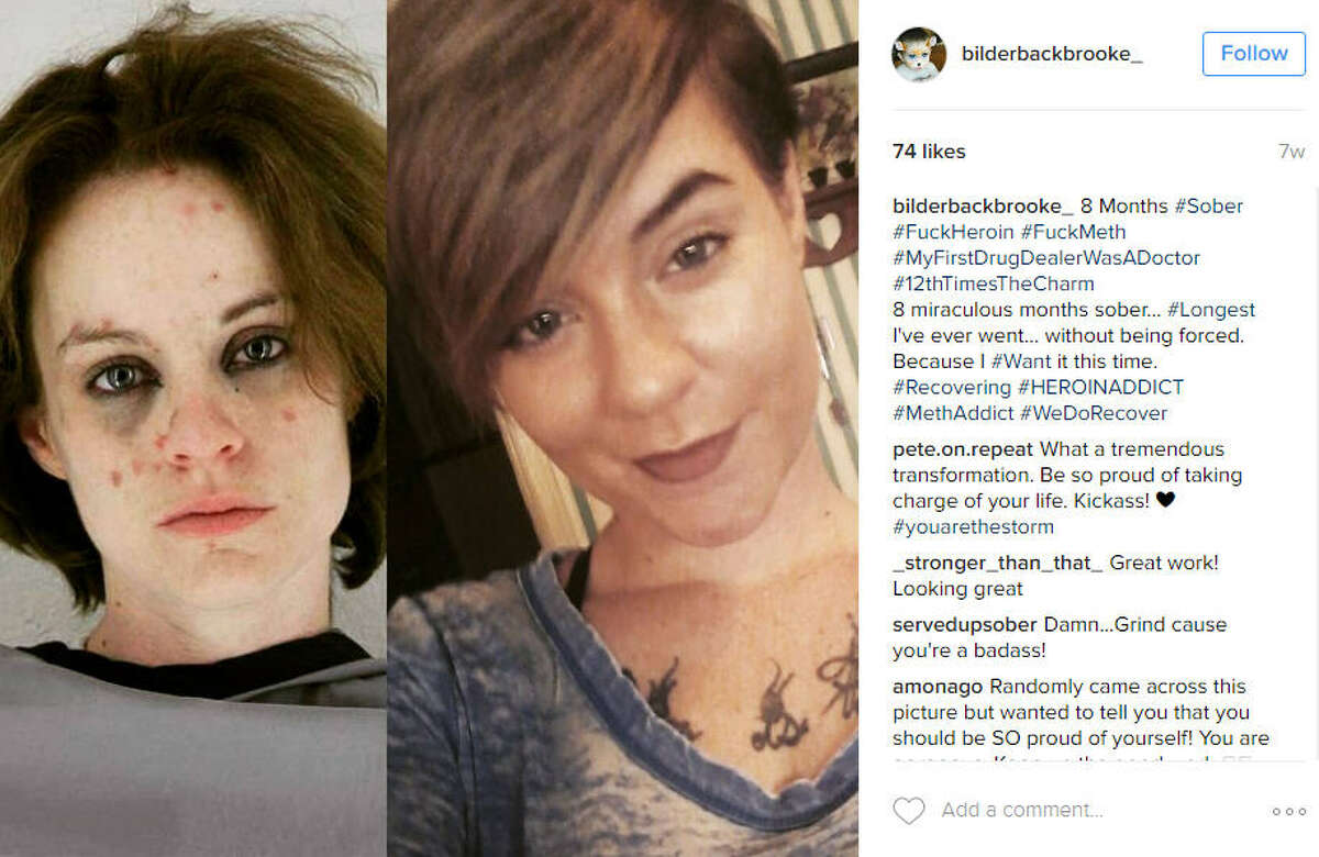 """""""8 miraculous months sober... #Longest I've ever went... without being forced. Because I #Want it this time. #Recovering #HEROINADDICT #MethAddict #WeDoRecover"""" Source: Instagram"""