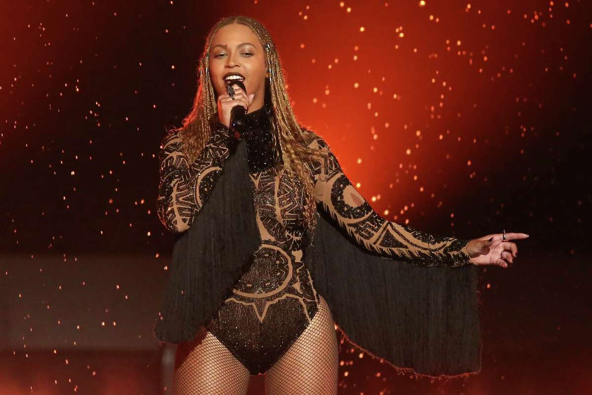 FILE - In this June 26, 2016, file photo, Beyonce performs 'Freedom' at the BET Awards in Los Angeles. The singer helped one of her backup dancers get engaged during a concert in St. Louis on Saturday, Sept. 10, 2016. (Photo by Matt Sayles/Invision/AP, File)