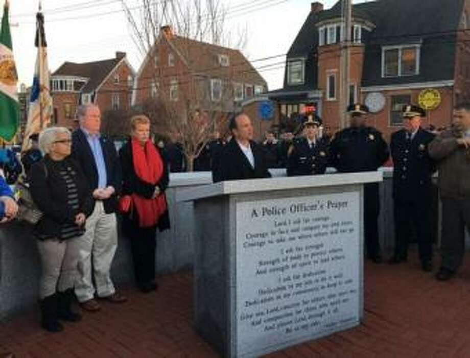 Officer Gerald DiJoseph, the last Bridgeport cop killed in the line of duty, was honored on Tuesday, Dec. 27. Photo: Contributed Photo
