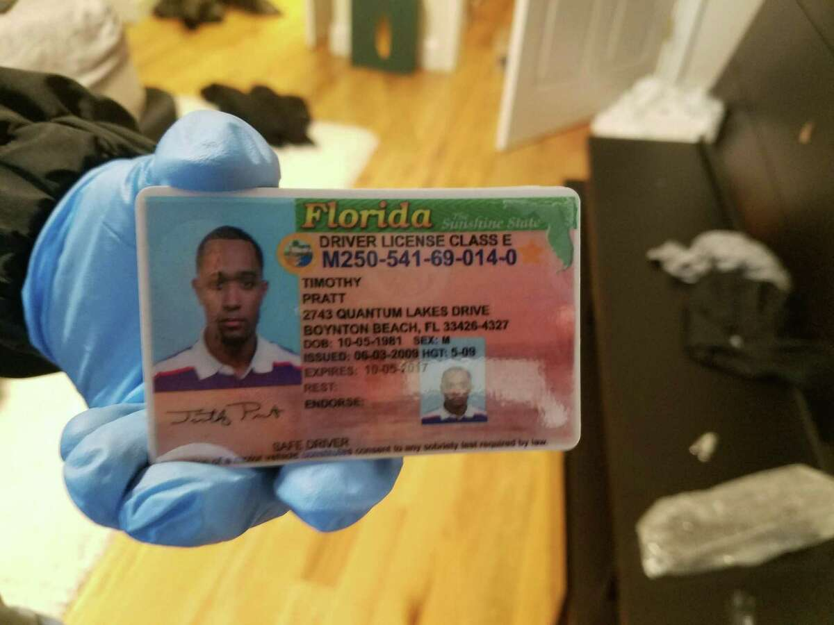 Fake identification shows the name fallen trooper Trooper Timothy Pratt.  (State Police photo)