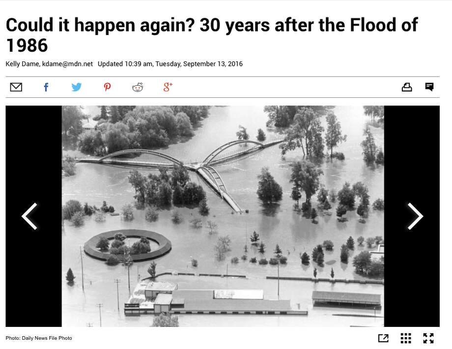 No. 10: Could it happen again? 30 years after the Flood of 1986Sept 13: A look back at the30th anniversary of the 100-year Flood of 1986. Full story: Here Photo: Midland Daily News
