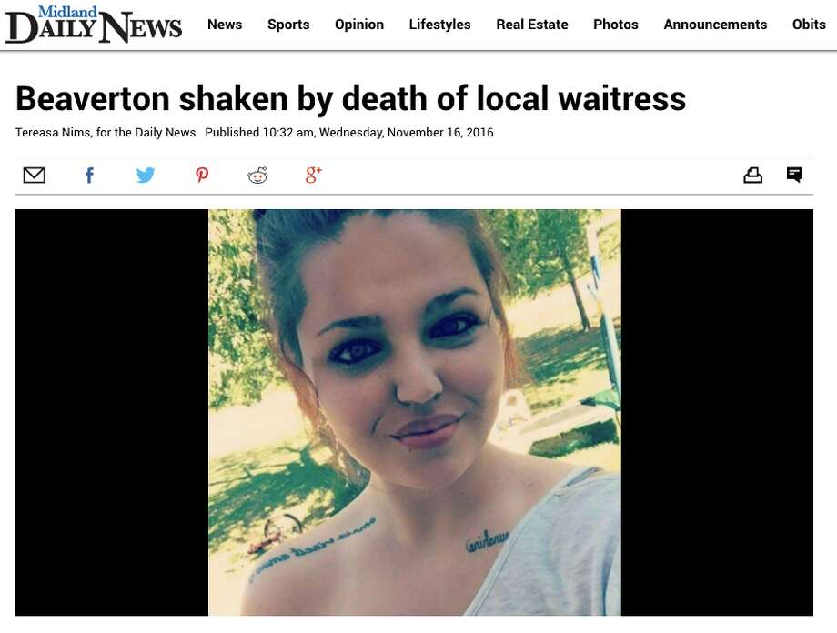 No. 10 Beaverton shaken by death of local waitressNov. 16: Her mother was her best friend, her 6-year-old nephew was her world, and her restaurant customers loved her, so it was a shock for Beaverton residents to learn that Annmarie Strunk had died Monday in a traffic accident. Full story: Here Photo: Midland Daily News