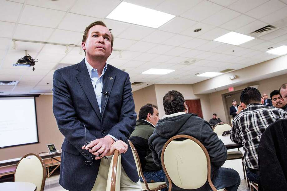Rep Mick Mulvaney, picked by President-elect Donald Trump to serve as his budget director listens to constituents at a Baptist church in Gaffney, S.C. A reader expresses fear that Mulvaney may cut funding for entitlement programs. Photo: MIKE BELLEME /NYT / NYTNS