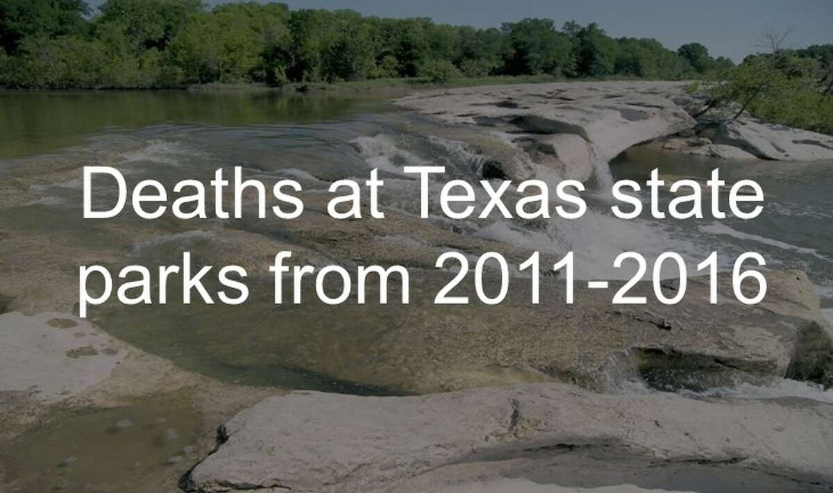 Deaths at Texas state parks from 2011-2016