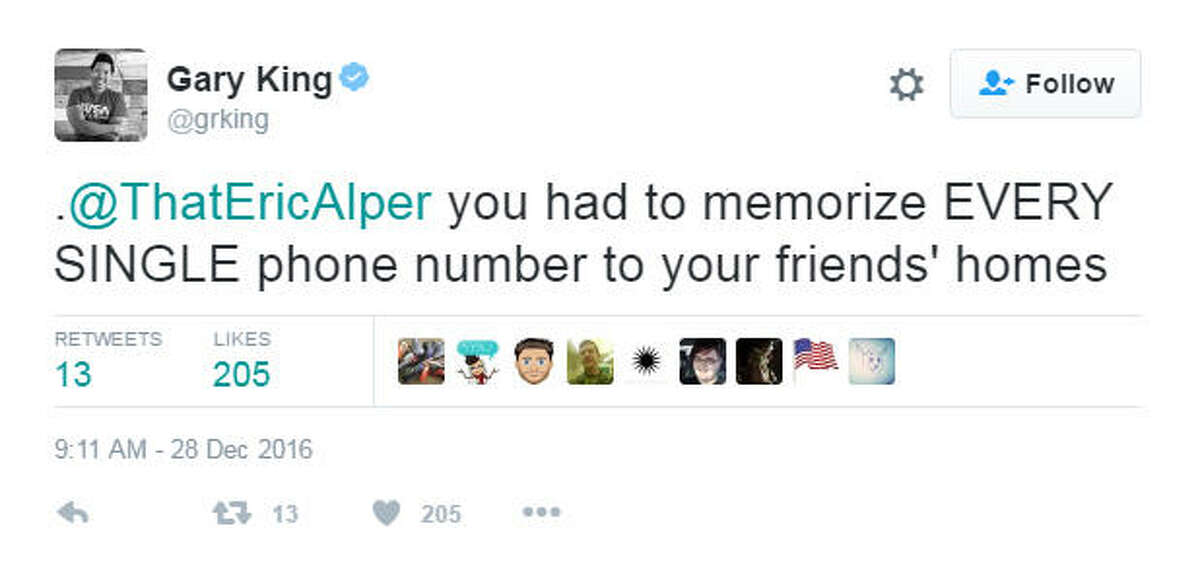 This week music publicist Eric Alper asked friends on Twitter to share one thing they grew up with that a younger person just wouldn't understand. The responses were amazing and made most of us feel ancient.
