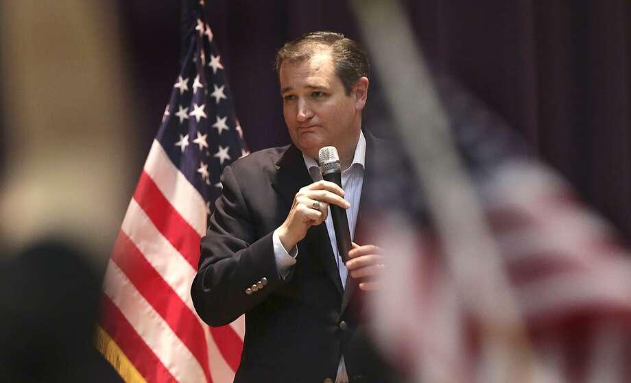 Presidential candidate Sen Ted Cruz, speaks to a standing room only crowd at a rally at Alzafar Shrine Auditorium in San Antonio, Texas on Monday, Feb. 29, 2016. Photo: Bob Owen, Staff / San Antonio Express-News / ©2016 San Antonio Express-News