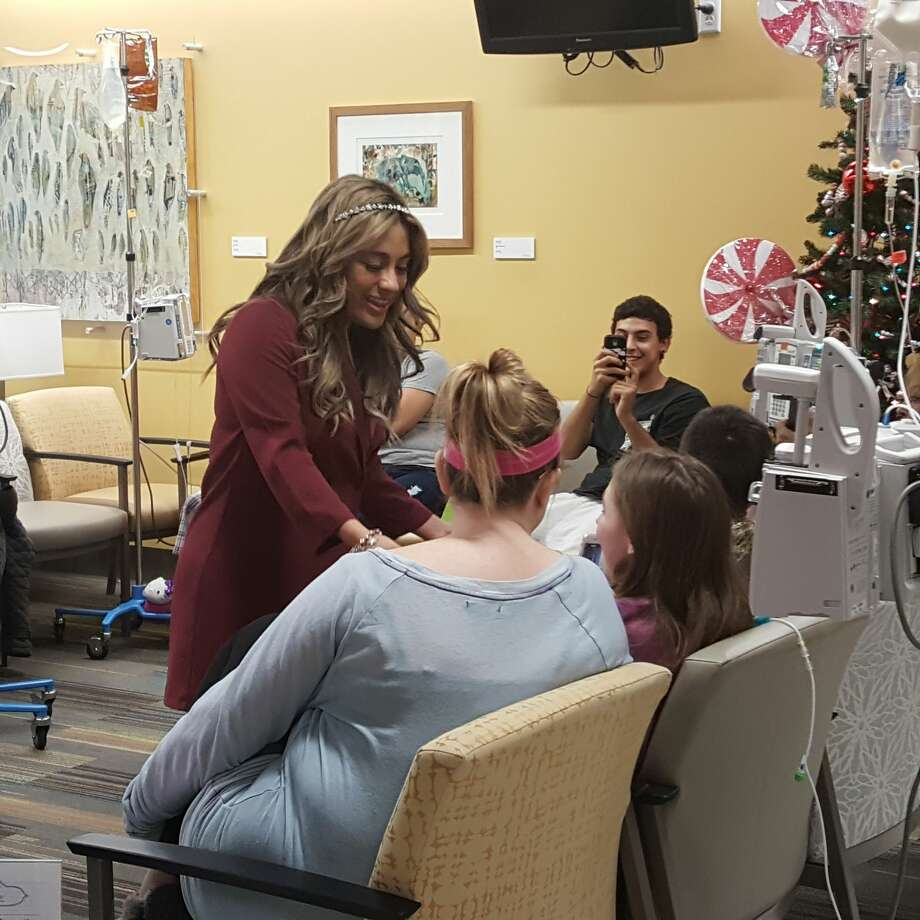 "Fifth Harmony star Ally Brooke Hernandez returned to her ""phenomenal hometown,"" San Antonio, over the holidays to meet fans and deliver toys to young patients at University Hospital. Photo: Courtesy, University Hospital"