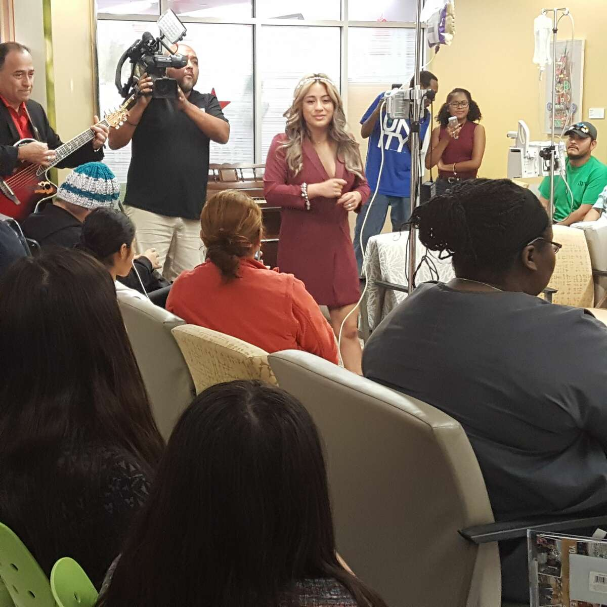 """Fifth Harmony star Ally Brooke Hernandez returned to her """"phenomenal hometown,"""" San Antonio, over the holidays to meet fans and deliver toys to young patients at University Hospital."""
