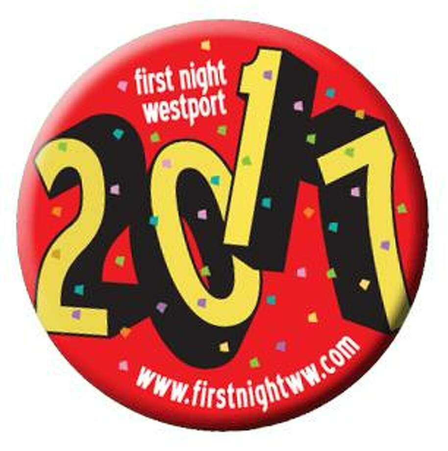 Westport First night button for 2017. Photo: Contributed / Contributed Photo / Westport News