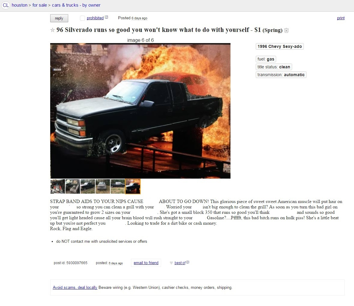 Craigslist Houston Cars And Trucks For Sale By Owner >> In The Market For A Chevy Sexy Ado You Re In Luck