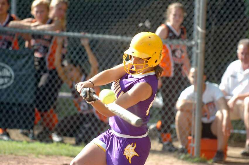 Westhill's Cassandra Kish bats as Westhill hosts Stamford High in a softball FCIAC playoff game Monday afternoon, May 24, 2010. Westhill won 8-0.