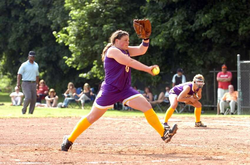 Westhill's Jen Joseph throws as Westhill hosts Stamford High in a softball FCIAC playoff game Monday afternoon, May 24, 2010. Westhill won 8-0.