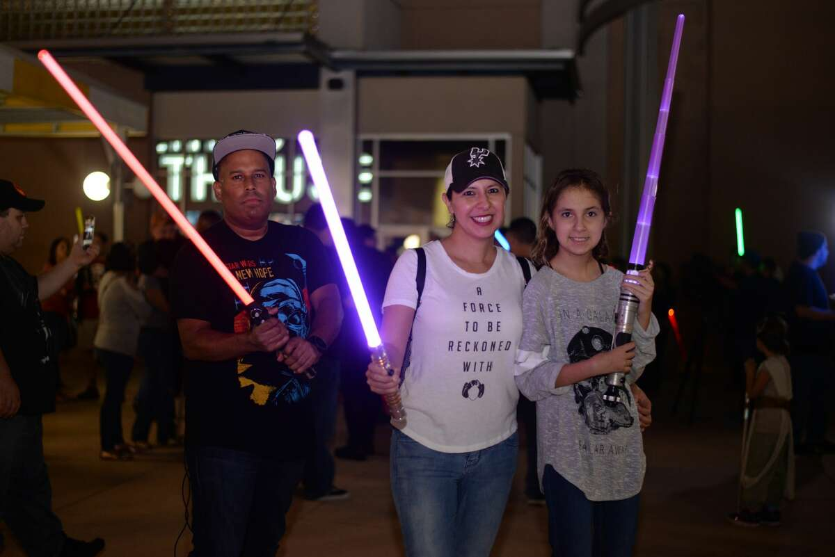 The Alamo Drafthouse honored the late Carrie Fisher with a lightsaber vigil Wednesday, Dec. 28, 2016