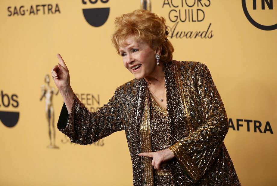 Debbie Reynolds backstage at the 21st Annual Screen Actors Guild Awards in Los Angeles in January 2015. Reynolds died on Wednesday, Dec. 28, 2016. (Al Seib/Los Angeles Times/TNS) Photo: Al Seib, TNS